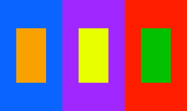 3 complementary colour example blocks