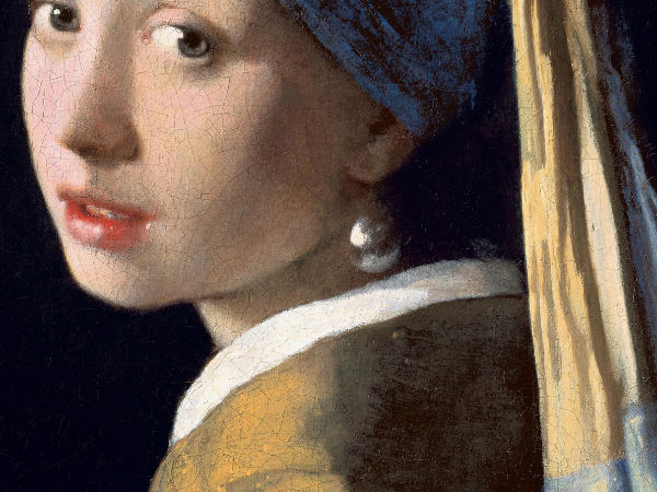 Vermeer painting showing reflected light on face