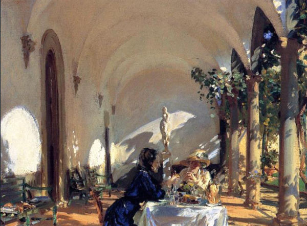 singer sargent painting showing ambient and relected light effects