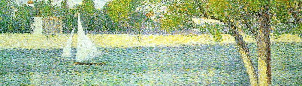 George Seurat pointillism painting crop