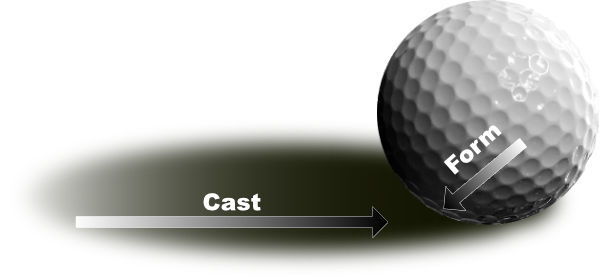 ball showing form & cast shadow directions