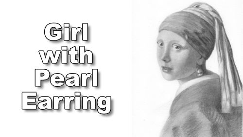 how to draw girl with pearl earring
