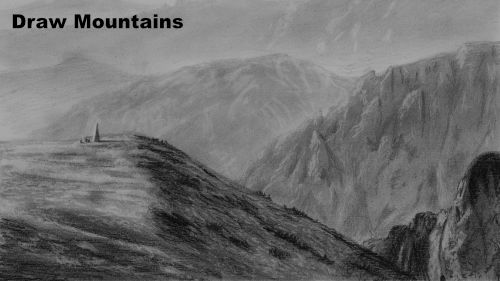 how to draw rocky mountains