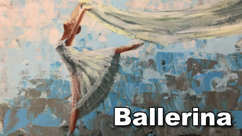 How to paint a ballerina in acrylic