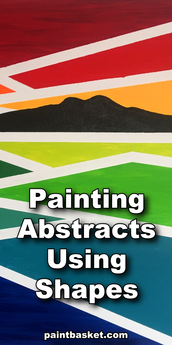 Learn how to use line, shape and form to create amazing abstract paintings.  art concept, art challenge, art tutorial, art basics
