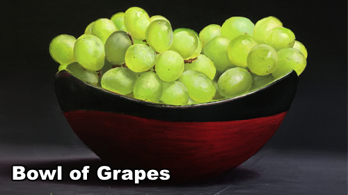 How to paint a bowl of grapes in oil