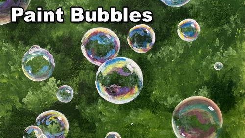 How to paint soap bubbles