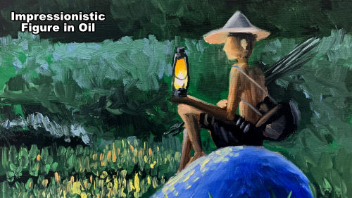 How to paint an impressionistic figure in oil