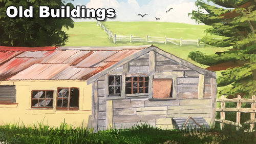 How to paint old buildings in acrylic